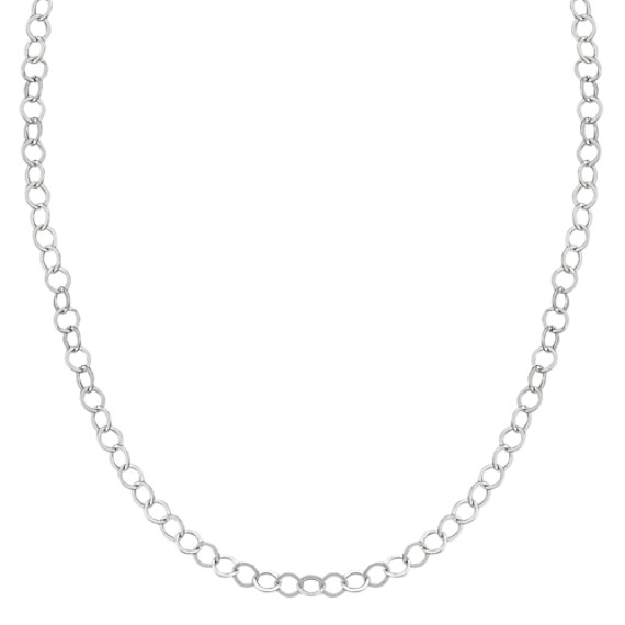 Sterling Silver Circle Necklace (18)