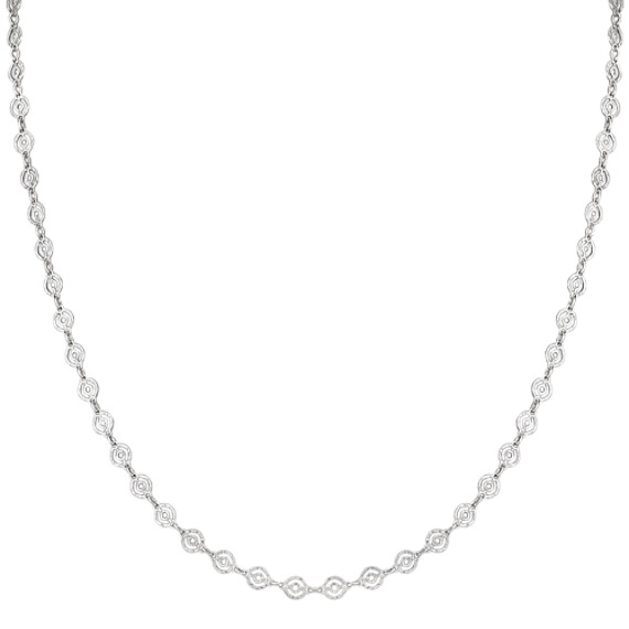 "Sterling Silver Circle Necklace (24"")"