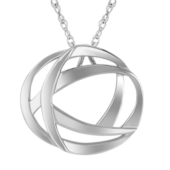 "Sterling Silver Circle Pendant (18"")"