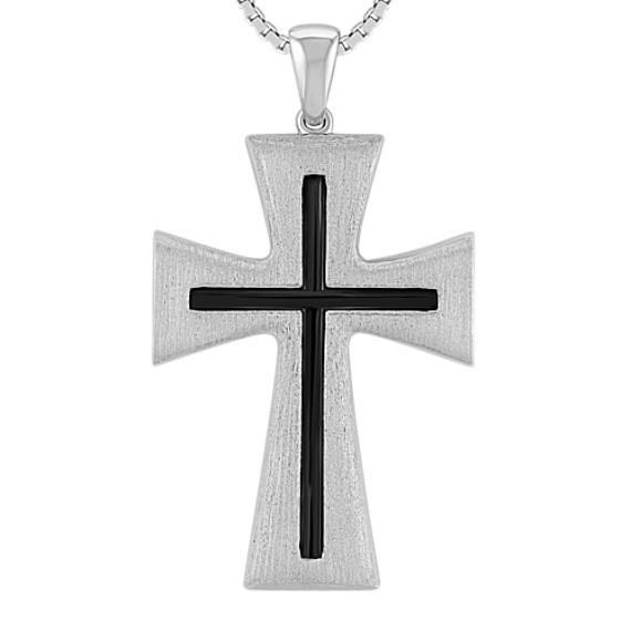 Sterling Silver Cross with Satin Finish (20)