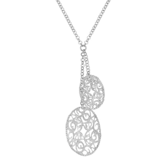 Sterling Silver Double Oval Necklace (18)