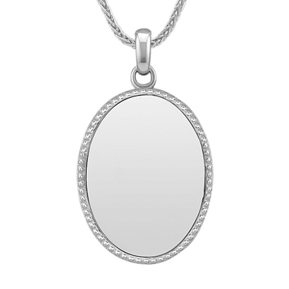 Sterling Silver Engravable Oval Pendant (24)