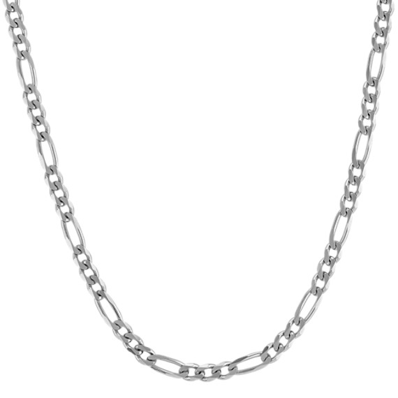 "Sterling Silver Figaro Necklace (24"")"