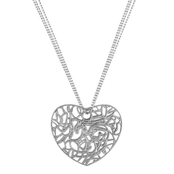 Sterling Silver Heart Pendant (20)