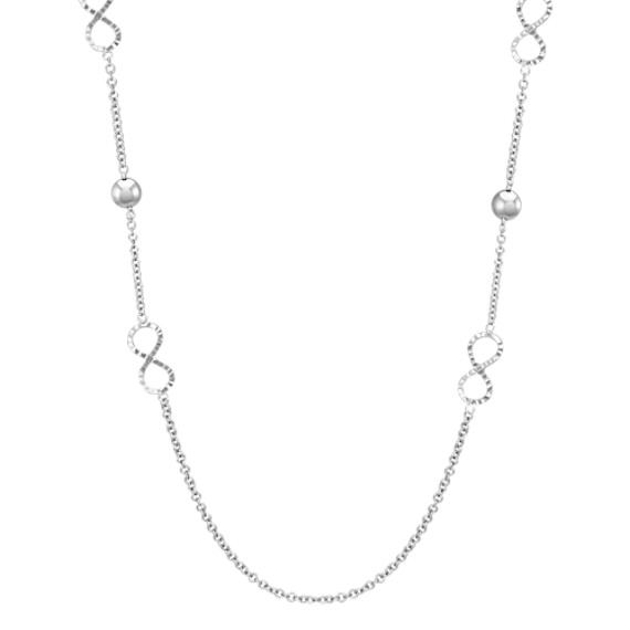 Sterling Silver Infinity Necklace (36')