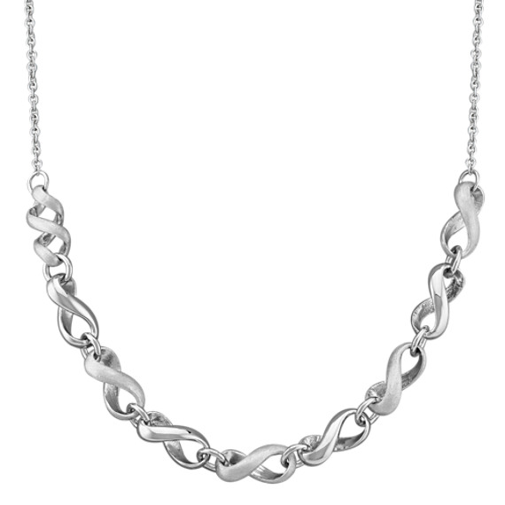Sterling Silver Infinity Strand Necklace (18)