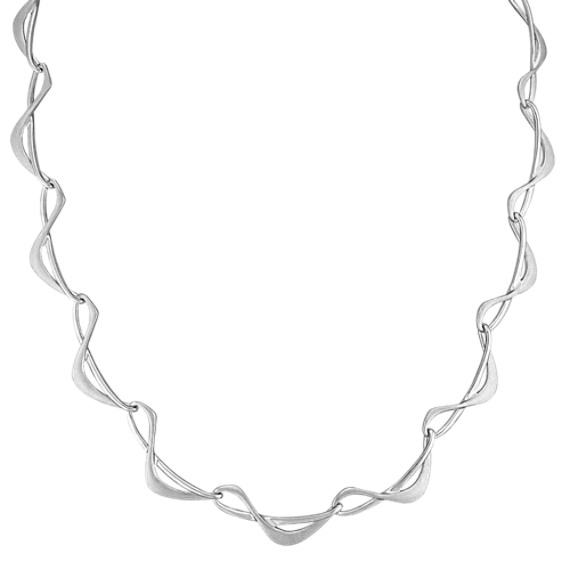 "Sterling Silver Necklace (16.5"")"