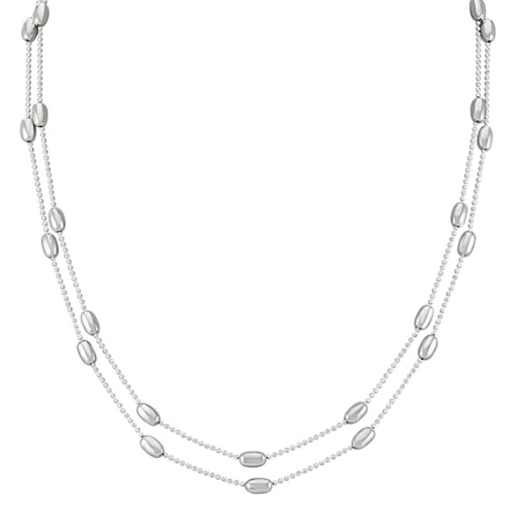 "Sterling Silver Necklace (60"")"