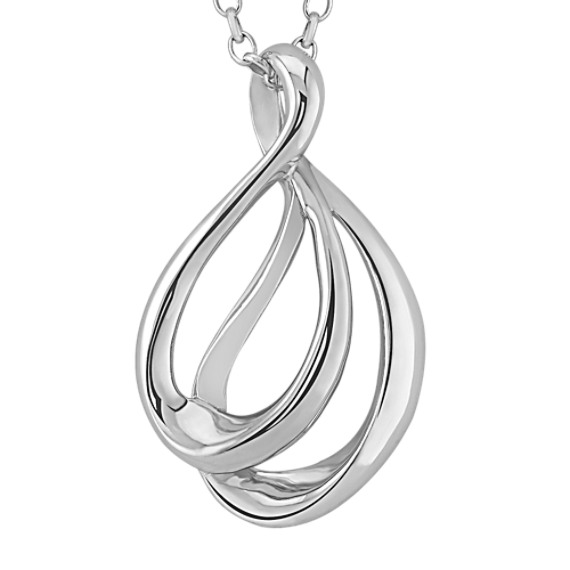 "Sterling Silver Pendant (18"")"