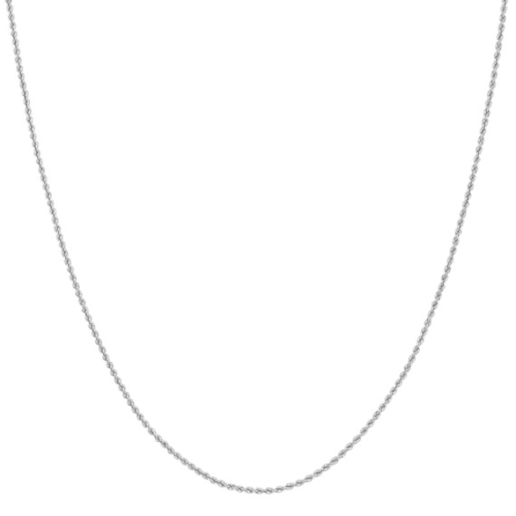 "Sterling Silver Rope Chain (20"")"