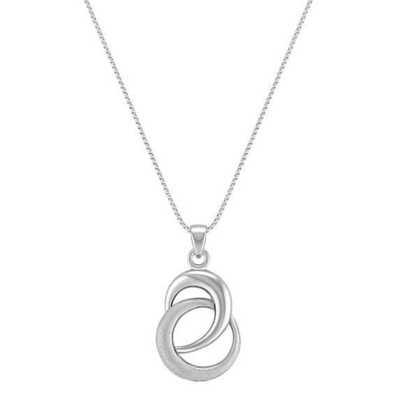 Sterling Silver Swirl Circle Pendant (18)