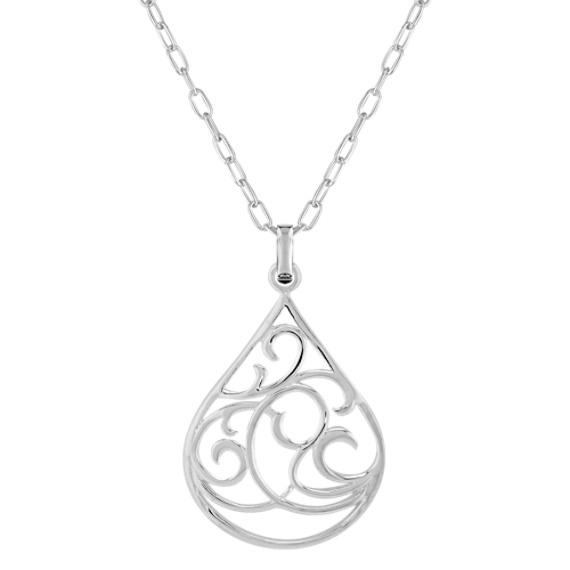Sterling Silver Teardrop Pendant (18)