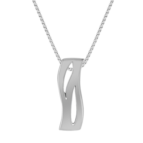 Sterling Silver Wave Pendant (18)
