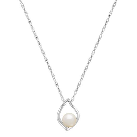 Teardrop Freshwater Pearl Pendant and Earring Set in Sterling Silver (18)