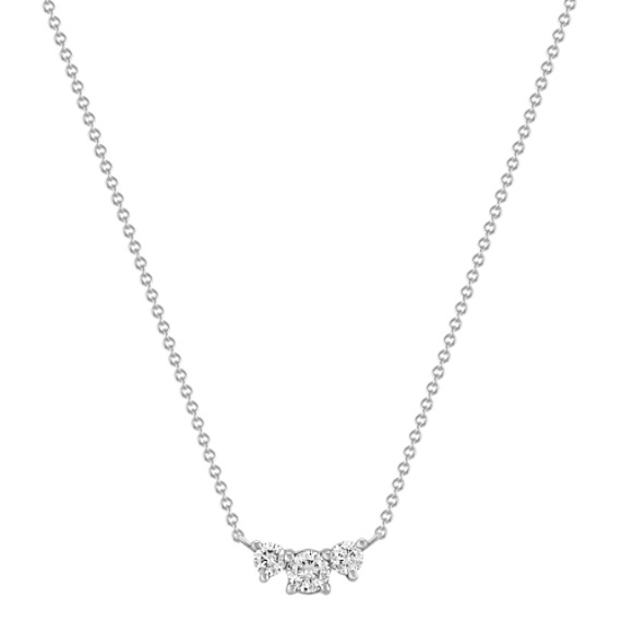 "Three-Stone Diamond Necklace (18"")"