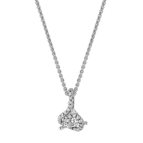 Trillion and Round Diamond Pendant (18)