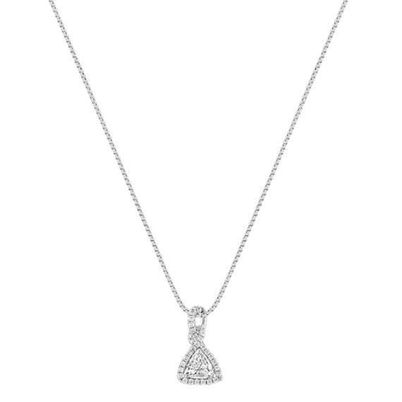 Trillion and Round Diamond Pendant (18)