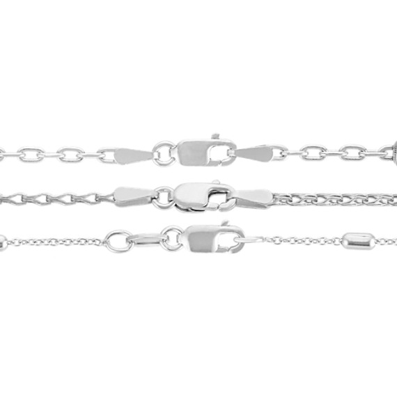 "Triple Chain Necklace Set in Sterling Silver (30"")"