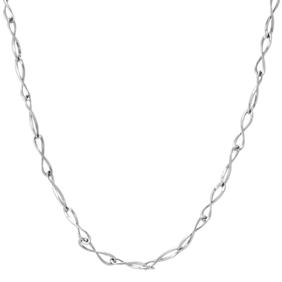 "Twist Infinity Necklace in Sterling Silver (18"")"
