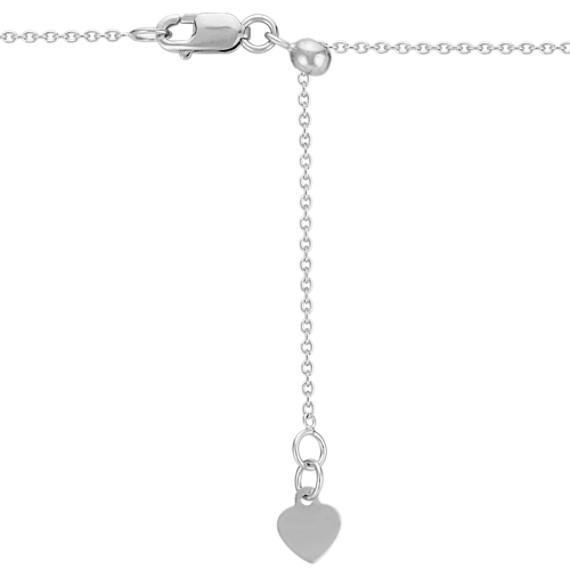"""Vine Pendant with Diamond Accent for Pear-Shaped Gemstone (22"""")"""