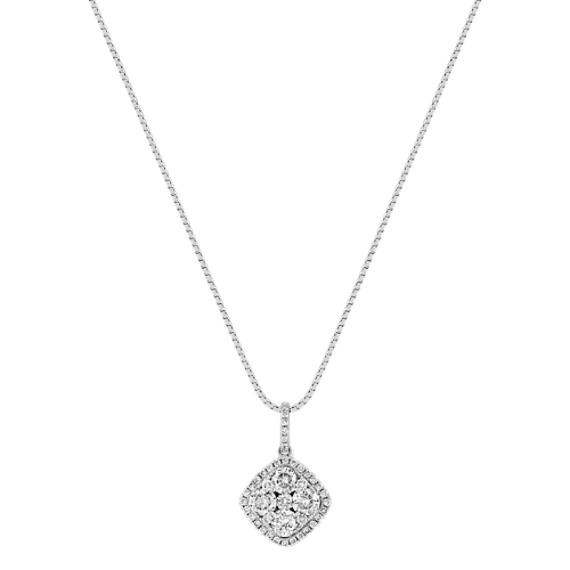 Vintage Diamond Cluster Pendant (18)