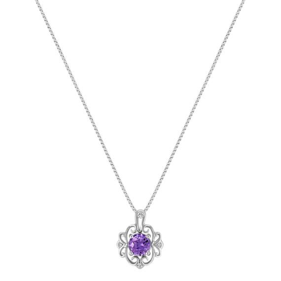 Vintage Lavender Sapphire and Diamond Pendant (18)
