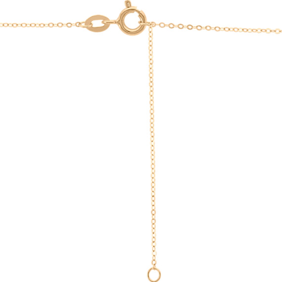 Y Necklace with Stations in 14k Yellow Gold (18 in.)
