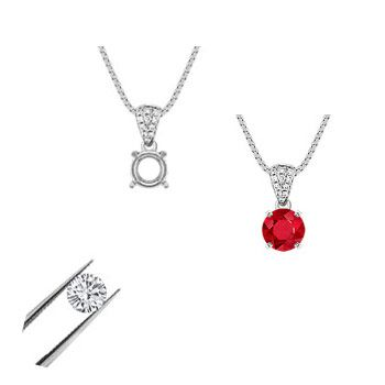 Design Your Own Pendant or Solitaire Necklace