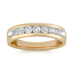14k Yellow Gold Diamond Ring with Channel Setting