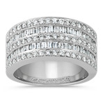 Baguette and Round Diamond Classic Ring