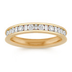 Baguette and Round Diamond Wedding Band