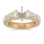 Classic Cathedral Pavé Engagement Ring