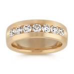 Classic Seven Stone Round Diamond Ring in 14k Yellow Gold (7.5mm)
