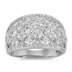 Contemporary Round Diamond Fashion Ring