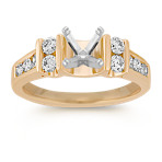 Diamond Engagement Ring with Channel-Setting