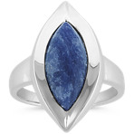 Marquise Sodalite Ring in Sterling Silver