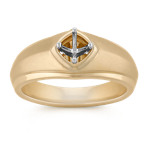 Men's Engagement Ring in 14k Yellow Gold (9.5mm)