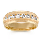 Men's Diamond Ring with Channel-Setting