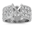 Pavé-Set Round Diamond Engagement Ring