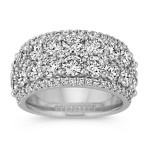Pavé-Set Round Diamond Ring