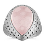 Pink Quartz Ring in Sterling Silver