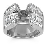 Princess Cut Diamond Engagement Ring with Channel-Setting