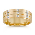 Princess Cut Diamond Ring with Channel-Setting and Satin Finish