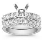 Princess Cut Diamond Wedding Set