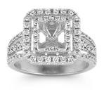 Princess Double Halo Diamond Engagement Ring