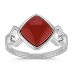 Red Carnelian Ring in Sterling Silver