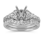 Round Diamond Classic Wedding Set