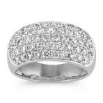 Round Diamond Contemporary Ring with Pavé Setting