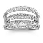 Round Diamond Lined Ring