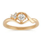 Round Diamond Ring in 14k Yellow Gold